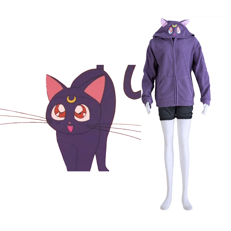 Sailor Moon Sort Cat Luna Cosplay Kostumer Danmark Butik