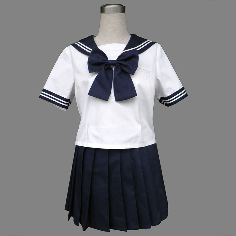 Royal Blå Short Sleeves Sailor Uniformer 8 Cosplay Kostumer Danmark Butik
