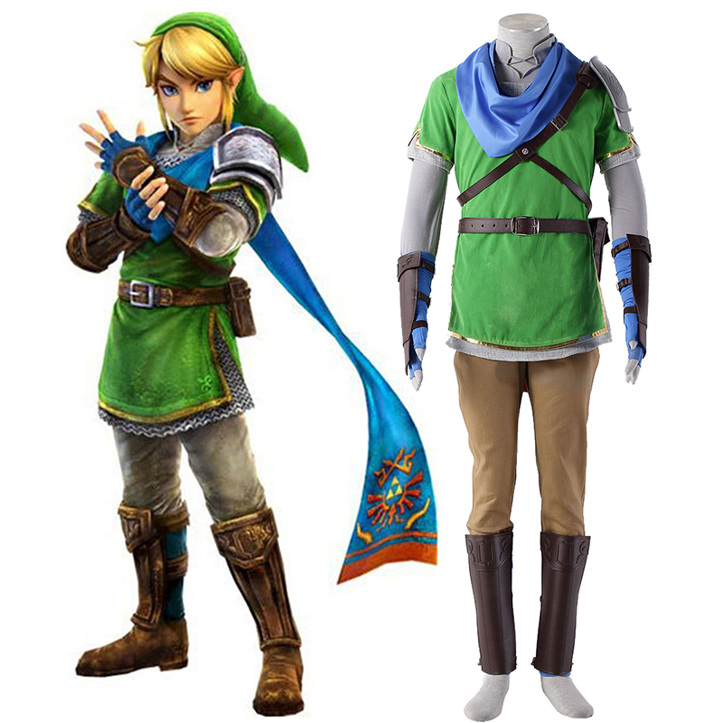 The Legend of Zelda Hyrule-Warriors Link 5 Cosplay Kostumer Danmark Butik