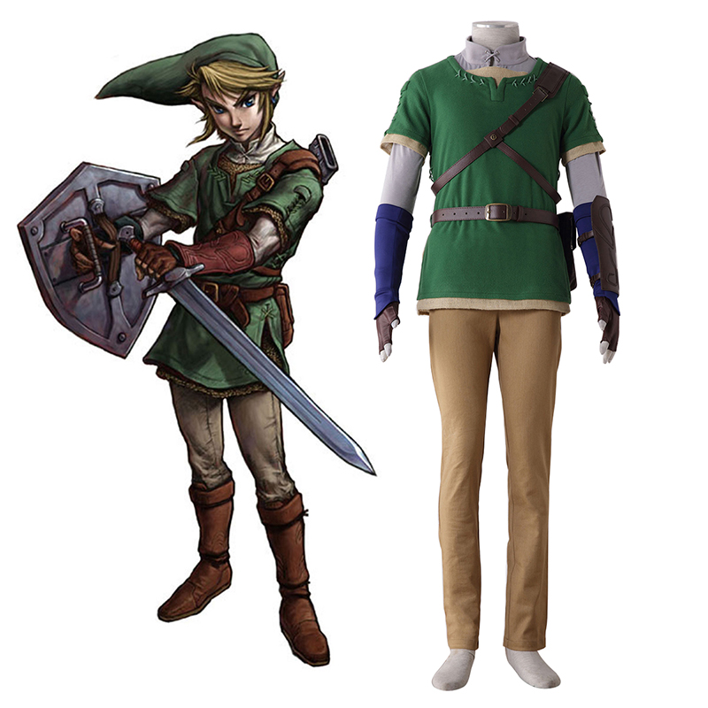 The Legend of Zelda Twilight Princess Link 4 Cosplay Kostumer Danmark Butik