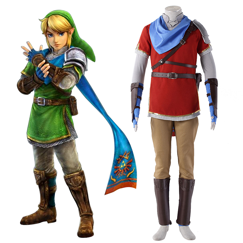 The Legend of Zelda Hyrule-Warriors Link 6 Rød Cosplay Kostumer Danmark Butik