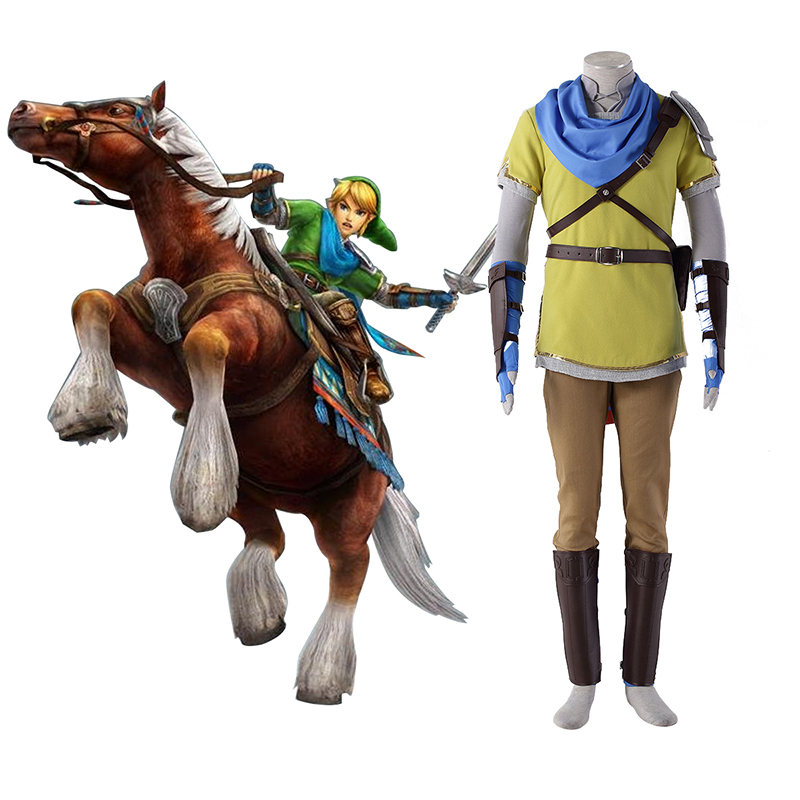 The Legend of Zelda Hyrule-Warriors Link 7 Gul Cosplay Kostumer Danmark Butik