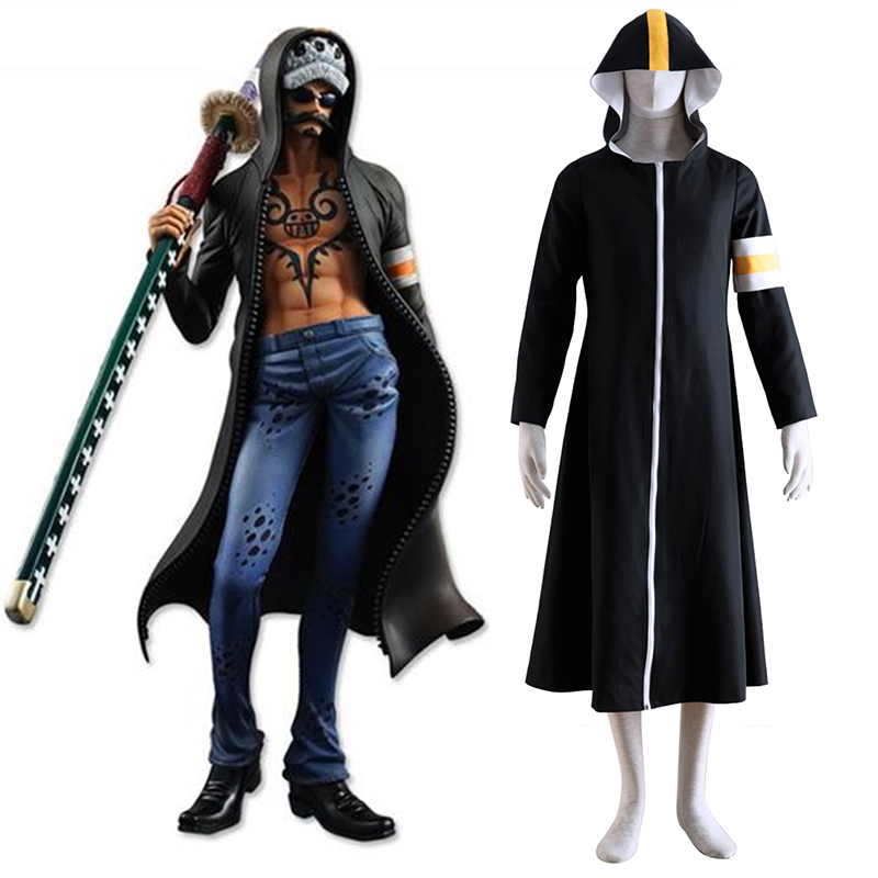 One Piece Surgeon of Death Trafalgar Law 1 Cosplay Kostumer Danmark Butik