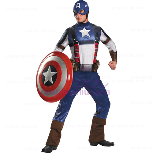 Captain America Movie - Captain America Deluxe Adult Kostumer