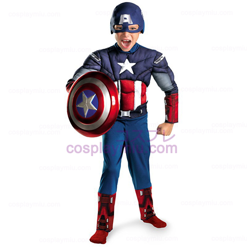 The Avengers Captain America Classic Muscle Chest Barn Kostumer