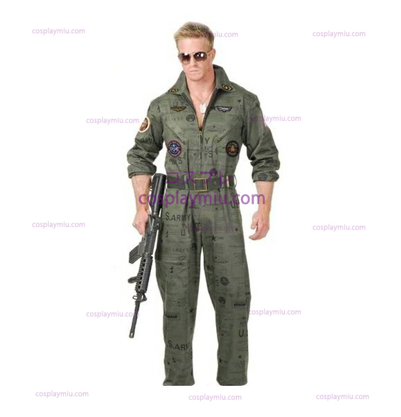 Top Gun Air Force Army Flight Suit Halloween Kostumer