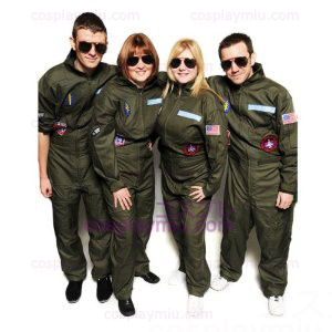 Top Gun Kostumer Party Flight Suit