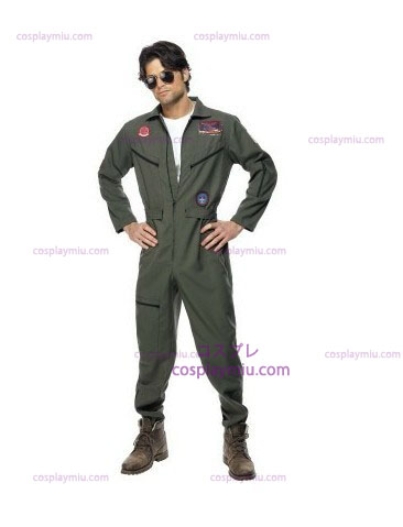 Top Gun Kostumer with Green Jumpsuit