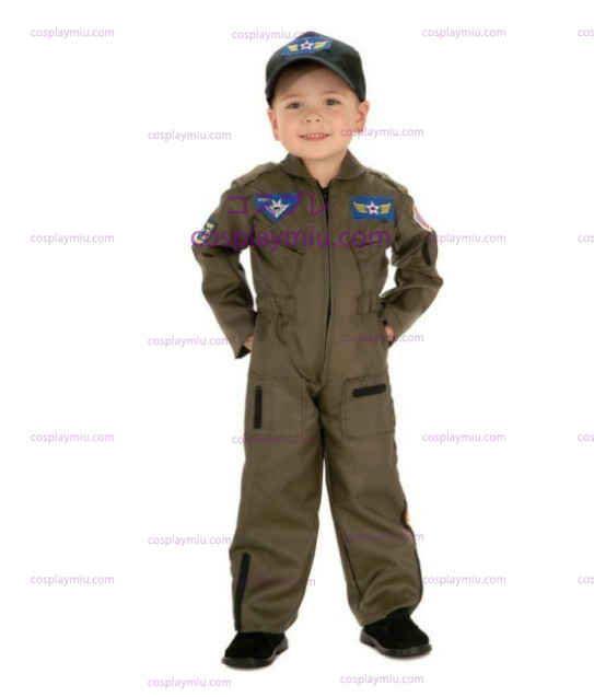 Kid Air Force Fighter Pilot Top Gun Halloween Kostumer