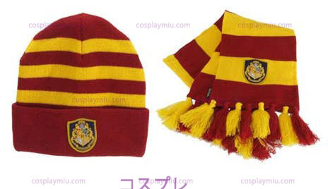 Harry Potter Hogwart's Knit Har og Scarf Set
