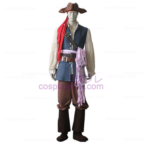 Pirates of the Caribbean Captain Jack Sparrow Cosplay Kostumer