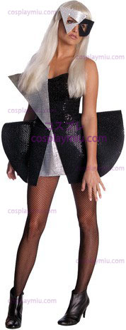 Lady Gaga Blk Sequin Kjoler Std