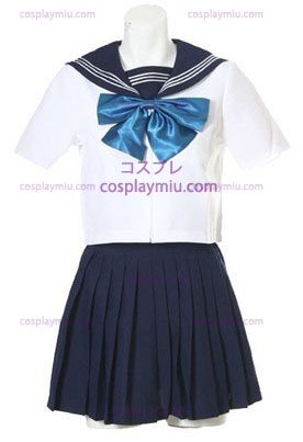 Short Sleeves Sailor School Ensartet Cosplay Kostumer