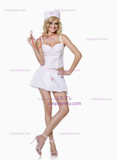 Hvid Secret Wishes Nurse Plus Size Kostumer