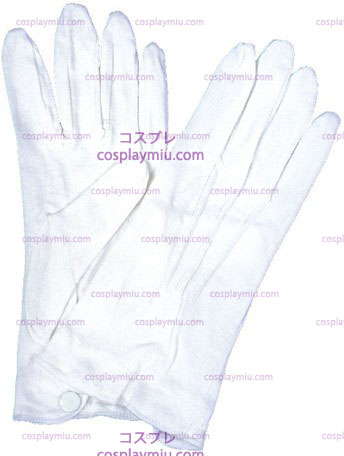 Gloves Cotton W/Snap,Hvid 1S