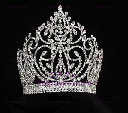 Rhinestone Crown Silver-Tone-CT019