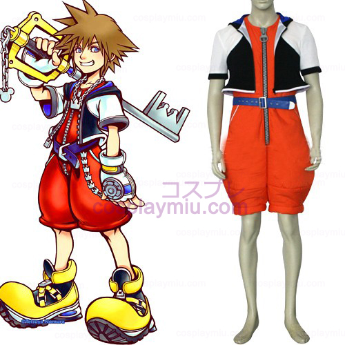 Kingdom Hearts 1 Sora Herre Cosplay Kostumer