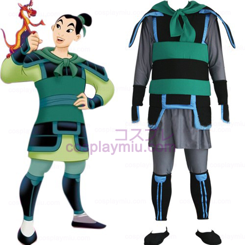Kingdom Hearts 2 Mulan Herre Cosplay Kostumer