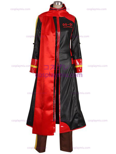 Vocaloid Akaito Red og Sort Cosplay Kostumer