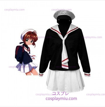 Cardcapture Sakura Tomoe Primary School Girls Cosplay Kostumer