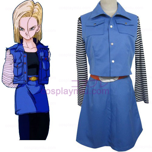 Dragon Ball Android 18 Cosplay Kostumer