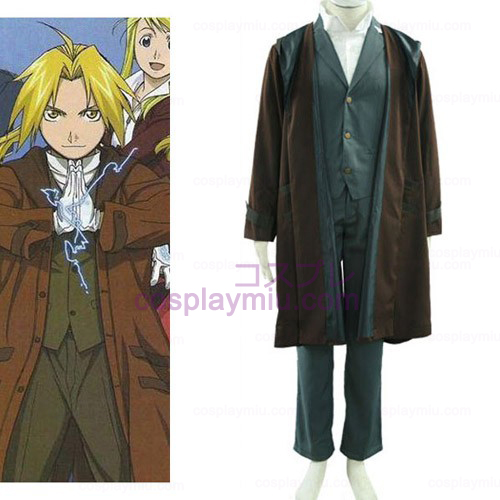 Fullmetal Alchemist Edward 2th Cotton Polyester Cosplay Kostumer