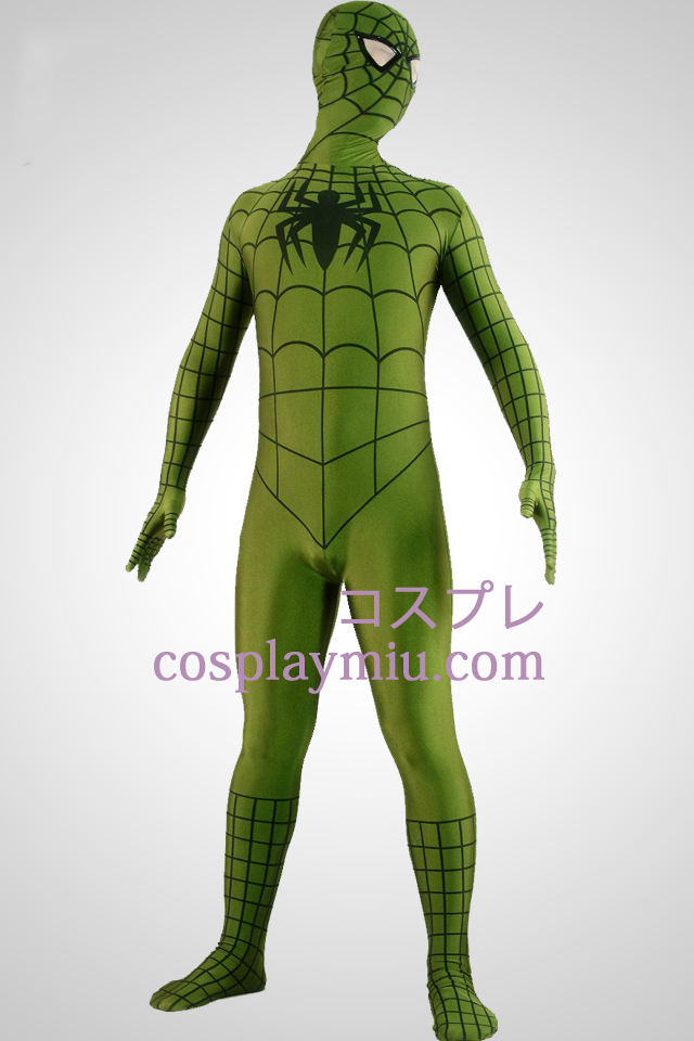 Army Green Spiderman Superhero Zentai Suit