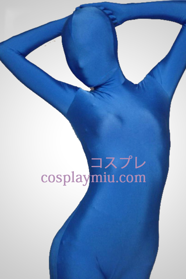 Blå Lycra Full Body Spandex Zentai Suit