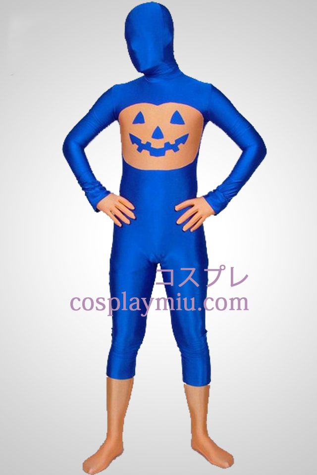 Blue Pumpkin Multi-Colored Unisex Lycra Spandex Zentai Suit