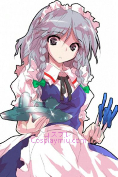 Touhou Project Izayoi Sakuya Light Purple Short Med Long Braid Cosplay paryk
